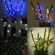 Solar Lamps 4.8M 20LEDs Fairy Crystal Ball Light String Waterproof Christmas Wedding Festival Holiday Garden Party Church Decor