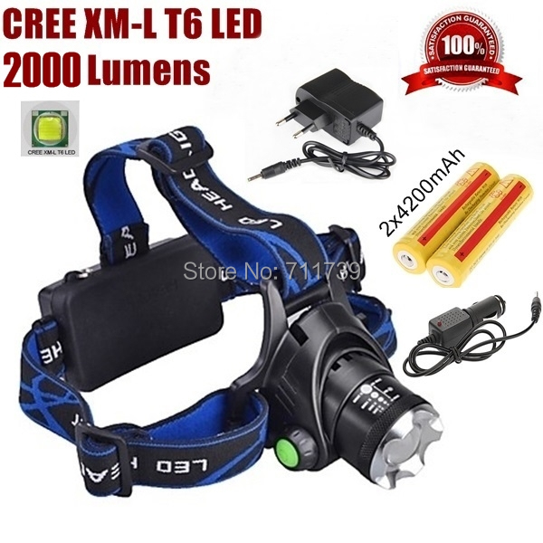 AloneFire HP79 Head light Head lamp Cree XM-L T6 led 3000LM rechargeable Headlamps Headlights lamp lights +18650 battery Charger<br><br>Aliexpress