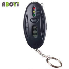 Mini 3 LED the breathalyzer Keychain alcohol tester with flashlight, clock timer & color box, 100pcs/lot DHL EMS free shipping
