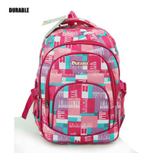 DURABLE Plaid Pattern Rose Red Supremee Best Sell Backpack Fahion Brand Pretty Lovely Girl College Schoolbag Big Capacity Bag