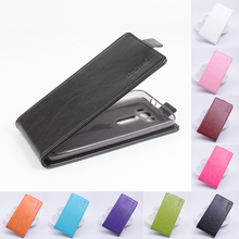 "PU Leather Case Cover For Asus Zenfone 2 Laser ZE500KL ZE500KG 5.0"" Case Luxury Open down/up Flip Cover Vertical Cell Phone Case"