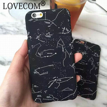 LOVECOM Case For iPhone 6 6S 7 8 Plus X Hot Starry Sky Black Phone Hard Back Cover Phone Case Capa Fundas Shells(China)