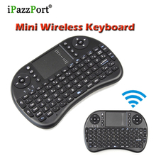 5pcs Hebrew English Russian Spanish Arabic 2.4G i8 keyboard wireless mini Touchpad Handheld air mouse Combo for Tv box Desktop