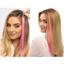 Stick to one or Mix and Match to Brighten up Your hair 22'' on 1'' Wide Weft, and Easy to Apply Clip-In Color Extension