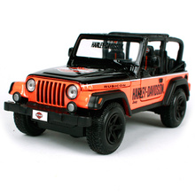 Maisto 1:27 Jeep Wrangler Harley-davidson edition Diecast Model Car Toy New In Box Free Shipping 32190