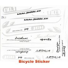 Design 47cm*37.5cm Size Bicycle Sticker Resin Plastic Material Paste In Frame Wheel Tape Rock Para Bicicleta Decals