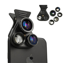 HD Cell Phone Lens Professional 2.5X Telephot 180 Degree Fisheye 0.62X Wide Angle 15X Macro CPL Camera Lenses Kit For Smartphone(China)