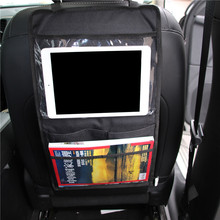 Car Multi-Pocket Back Seat Storage Bag Organizer Car Backseat Organizer Phone Pocket Pouch for Books Tablet Mobile Drinks Tissue(China)