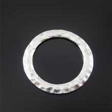 12pcs Small Round Circle Jewelry Making Connector Hanging Art Finding Accessory Handmade Crafts Wholesale Component 52037(China)