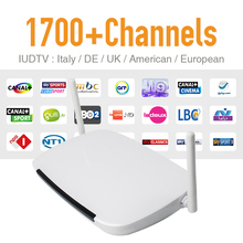 Europe Arabic Sky IPTV Channels Box Android WiFi HDMI Smart TV Box 1700 Plus Arabic French IPTV Channels Package HD Media Player