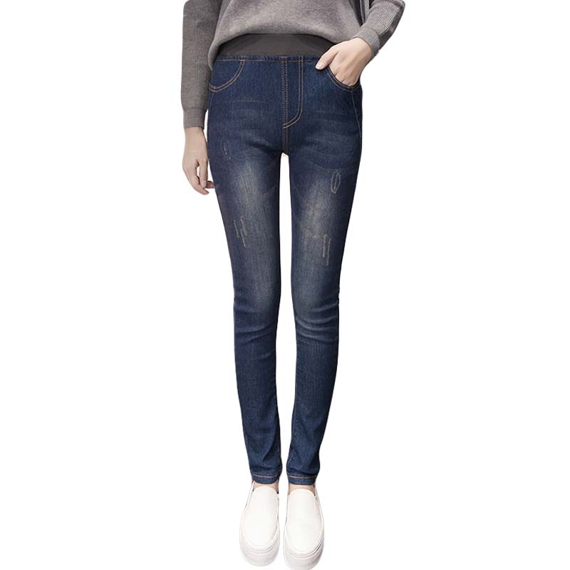 2017Jeans for women Jeans With High Waist Jeans Woman High Elastic plus size Women Jeans femme washed casual skinny pencil pantsОдежда и ак�е��уары<br><br><br>Aliexpress