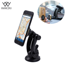 XMXCZKJ Universal Car Phone Holder Magnetic Mount Holder 360 Rotation Car Windshield Holder For iPhone Samsung Smartphone GPS(China)