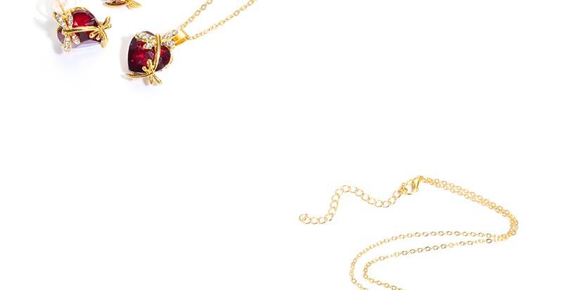 AYAYOO Jewelry Sets Women Gold Color African Beads Jewelry Set Dubai Bridal Luxury Wedding Fashion Necklace Jewellery (2)