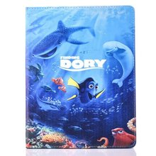 New Cute Cartoon Sea World Case For iPad With Soft TPU Shell Case For Apple iPAD Mini 1 2 3 Case PU Leather Tablet Pc Cover Case