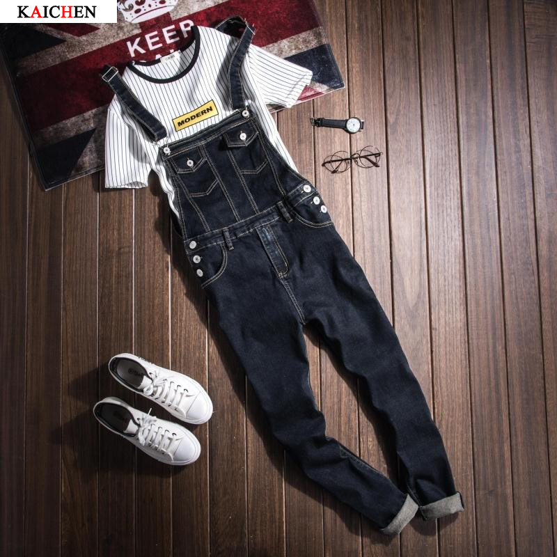 Black Denim Overalls Men Bib Jeans Spaghetti Strap One Piece Jean Jumpsuits For Adult Mens Cotton Suspender Pants XXXLОдежда и ак�е��уары<br><br><br>Aliexpress