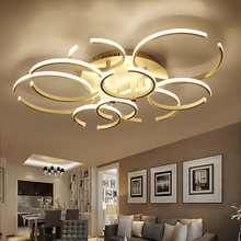 Modern Led Ceiling Chandelier Lights for Living Room Bedroom Decoration Lighting AC85-265V Ring-Shape Remote control Chandeliers