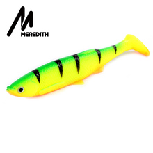 MEREDITH 12cm 14.5g 4pcs 3D Bleak Paddle Tail Soft Plastic Jig Heads Pike Lures Fishing Soft Lures name Relax Kopyto(China)