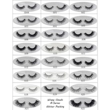 Mink Eyelashes 3D Mink Hair Lashes Wholesale 100% Real Mink Fur Handmade Crossing Lashes Thick Lash 19 Styles