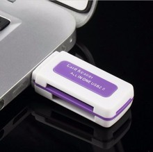 Crad Reader USB 2.0 4 in 1 Memory Multi Card Reader for M2 SD SDHC DV Micro SD TF Card  Free Shipping