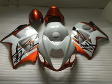 Injection Mold Fairing kit for SUZUKI Hayabusa GSXR1300 96 99 00 07 GSXR 1300 1996 2007 White orange Fairings set+7 gifts VX26