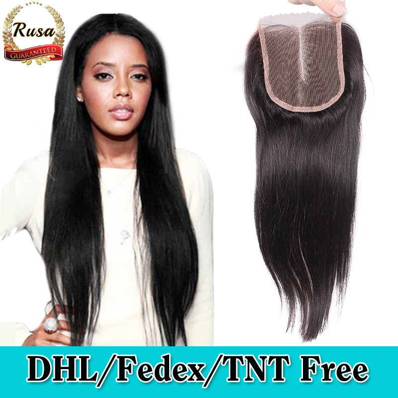 Cheap 8A Brazilian Virgin Hair Closure 3.5*4 Brazilian Straight Lace Closure Free Middle 3 Part Human Hair Closure Bleached Knot<br><br>Aliexpress