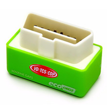 Freeshipping Green Color EcoOBD2 Economy Chip Tuning Box Interface OBD Car Fuel Saver Eco OBD2 for Benzine Cars Fuel Saving 15%
