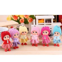 6pcs/lot Wholesale mini Lattice Clown Confused Doll Creative Gifts Mobile Phone Accessories Phone Pendant(China)