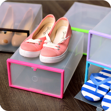 1Pcs/set Creative Clear Transparent Drawer Case Plastic Shoe Boxes Storage Organizer Stackable Box