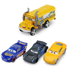 Disney Pixar Cars 3 New Roles Miss Fritter Lighting McQueen Jackson Storm Cruz Ramirez Metal Car Model New Year Gift For Kid(China)