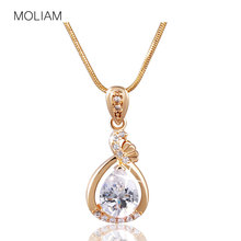 MOLIAM Fashion Women Necklace Gold-Color Slide Pendants Jewelry Chain Gros Collier Femme 2016 MLP005,MLP006 - Official Store store