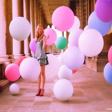 1 pcs Colorful Blow up 36 Inches Ball Balloon Helium Inflable Big Latex Balloons For a Birthday Party Decoration 1 Pcs