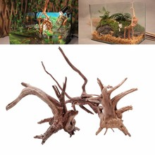 Natural Tree Trunk Driftwood Aquarium Fish Tank Plant Wood Decoration Ornament C42(China)