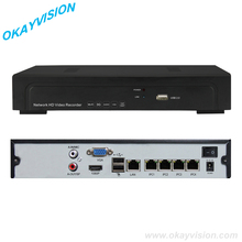 Manufacturer Real Time Recording 1080P 4CH POE NVR Support IP Camera Onvif NVR(China)