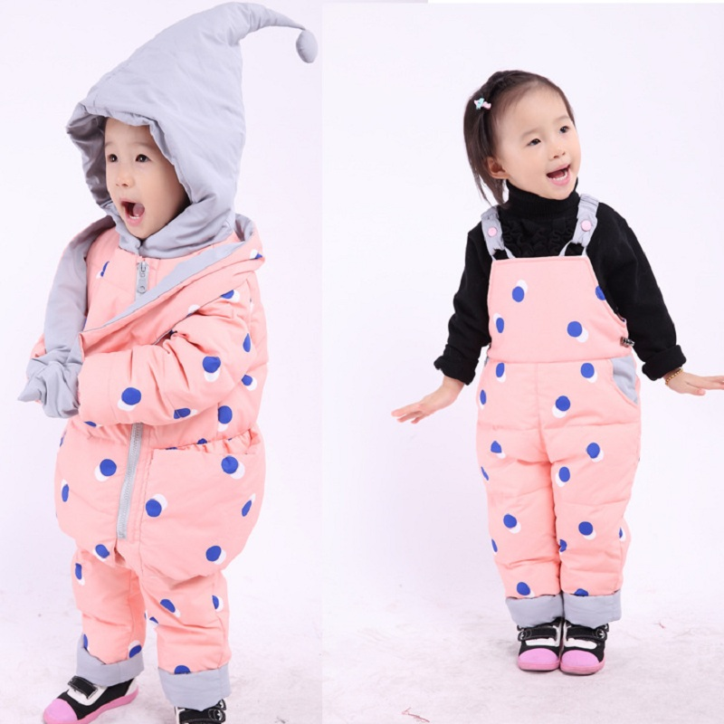 New baby winter coat set baby girls baby boys down jacket warm clothes childrens clothing 0-4years old babys outercoat set<br>