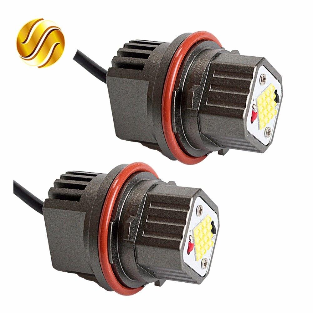 flytop CANBUS Error Free 2*80W 160W LED Marker Angel Eyes for CREE LED Chips 9-32V White for E39 E53 E60 E61 E63 E65 E87 (1 Set)<br>
