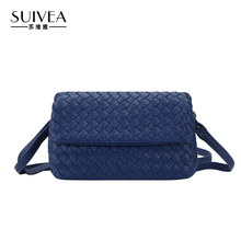 SUIVEA Brand Women High Quality PU Leather Functional Handbag Women Shoulder Bag Lady Style Weave Cross Body Bag 2017(China)