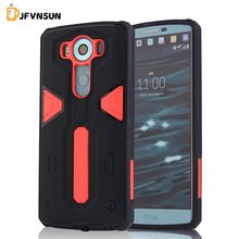 For LG V10 Case NEW Hybrid TPU+PC Hard Plastic Armor Case For LG V10 HOT Slim Dual Color Rubber Dustproof plug Phone Back Covers