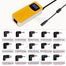 90W colorful yellow color universal power supply with LCD Screen 15 tip USB Output For iPad iPhone iPod