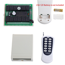 12V 10A Relay 12Ch Wireless Programmable RF Remote Control Transmitter +Receiver(China)