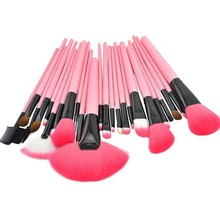 wholesale excellent 24pcs Makeup Brush Make-up Toiletry Kit Goat hair eye shadow Make Up Brushes Set Case 4pcs/lot free shipping