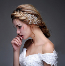 In Stock Free Shipping Cheap Modest Bridal Accessories Beading Crystal Gold Wedding Hair Accessories Hot Sale Fascinator