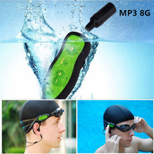 MP3 Player 8GB Diving Waterproof Swimming MP3 Music Player IPX8 Water Swim Mini Usb Clip Digital Earphones Sport Music Player(China)