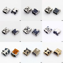 Hot sale 9 models 5pin 8pin 10pin Mini USB Type B Female Socket 5-Pin Right Angle DIP SMT Jack Connector(China)