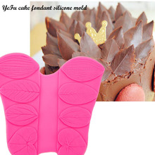 YeFu cake fondant silicone mold LEAF FOLDER mold different types leaf flowers  Cake Decorating Tools clay/rubber T0587