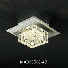 New product lamp Contemporary and contracted stainless steel plating crystal halogen light source Absorb Ceiling lights
