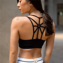 New autumn wireless backless aross running sports women yoga bra with padded shockproof dry quick fitness vest tank tops