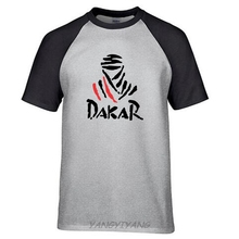 Summer The Paris Dakar motorcycle Rally Commemorative T-shirt Men brand casual cotton t shirts Men's raglan sleeve printed Tee