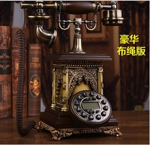 Fashion antique wood telephone american vintage home phone fashion Backlight/Hands Free/Caller ID(China)
