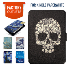 Smart Shell Kindle Paperwhite Case  PU Leather Cover Auto Sleep/Wake for Amazon Kindle Paperwhite 1 2 3(2012 2013 2015 6 inch)