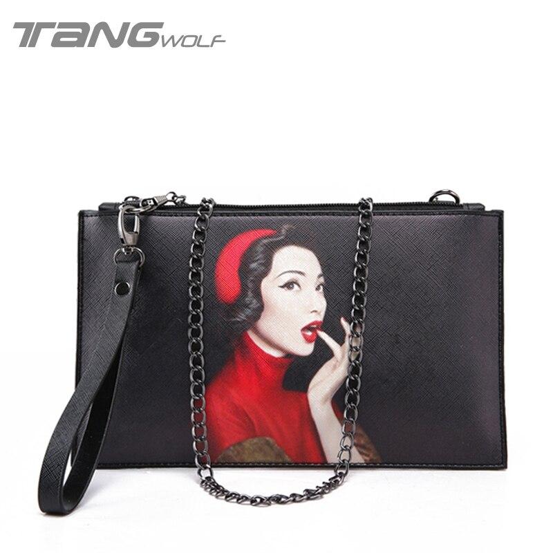 Bolsas Feminina 2016 New Printing Envelopes Women Handbags Clutch Fashion Chain Shoulder Messenger Bags Ladies Crossbody Bags<br><br>Aliexpress